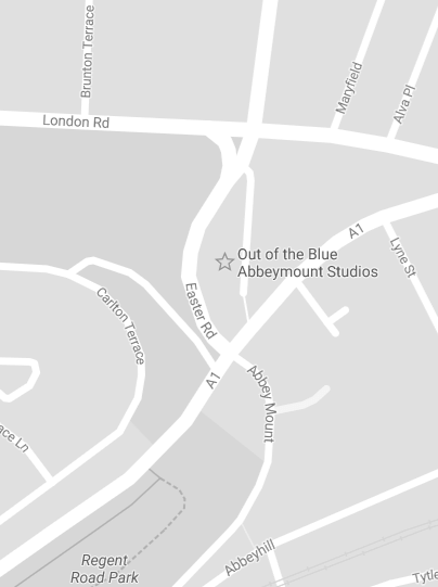 Abbeymount Studios is located at the top of Easter Road.